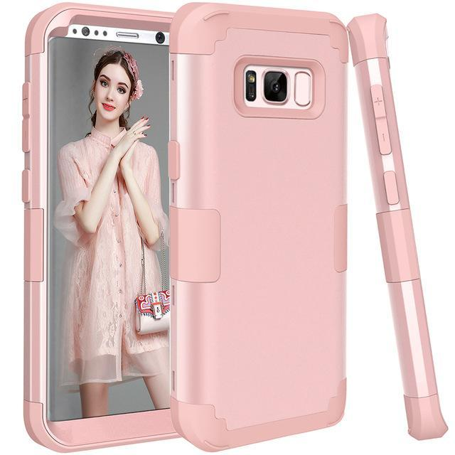 Fab-Case  Shockproof Cases for Samsung Galaxy S8/S8 plus Dual layer protection plus screen protector
