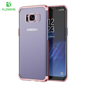 Fab-Case  rose gold / S8 FLOVEME Fashion Case For Samsung Galaxy S8/S8 Plus Case Light Luxury 3D Plating Mobile Phone Case Cover