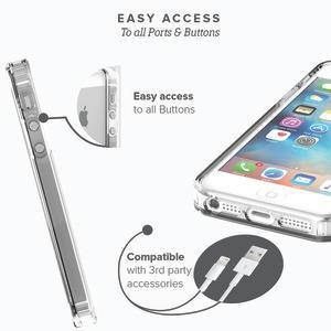 Fab-Case Default Title SAHARACASE Clear Protective Kit With screen Protector case for iPhone 5/5S/5SE (Clear)