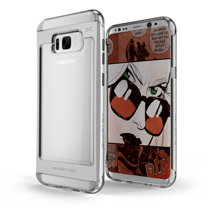 Fab-Case Silver Ghostek Cloak 2 Series Case for Samsung Galaxy S8 Plus cover with tempered glass