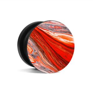 Fab Case Store Fab Pops Socket Fap Pops Magnetic Red Lava marble Socket For Smartphones And Tablets
