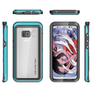 Fab-Case  TEAL Ghostek Atomic 3 Shockproof Waterproof Case for Samsung Galaxy S8