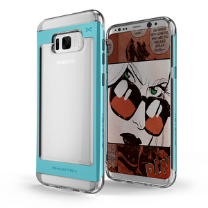 Fab-Case Teal Ghostek Cloak 2 Series Case for Samsung Galaxy S8 Plus cover with tempered glass