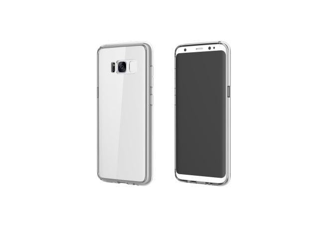 Fab-Case  For Samsung Galaxy S8 S8 Plus Case Rock Ultra Thin Slim Transparent Clear Hard Back Cover Protective Case