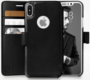 Fab-Case  wallet case for iphone x 10 Black Eco-Friendly Credit Card Wallet Phone Case for iPhone X 10