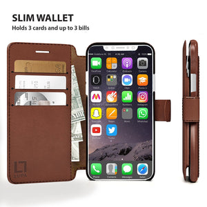 Fab-Case  wallet case for iphone x 10 Eco-Friendly Credit Card Wallet Phone Case for iPhone X 10