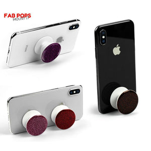 Fab Cellular Fab Pops Fab Pops Wrap It Grip It Mount It For Apple iPhone Samsung Gold Glitter