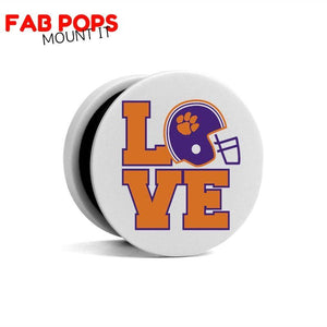Fab Cellular Fab Pops Option 1 Fab Pops Clemson Tigers Holder Grip Socket For Smartphones And Tablets