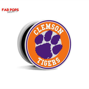 Fab Cellular Fab Pops Option 3 Fab Pops Clemson Tigers Holder Grip Socket For Smartphones And Tablets