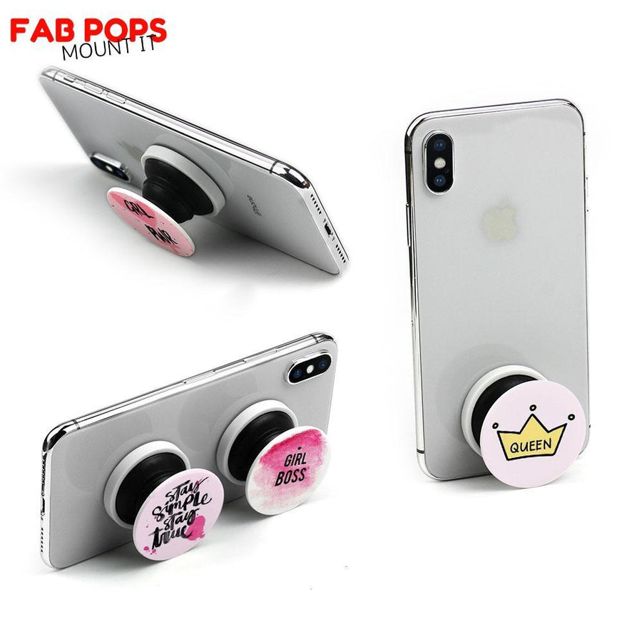 Fab Cellular LLC Fab pops socket grip Fab Pops Grip it Mount It Wrap it Socket for Smartphones and Tablets Peace