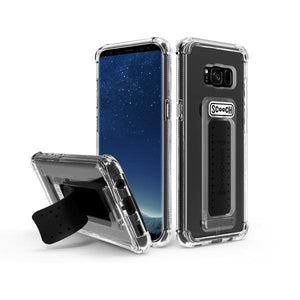 Fab Cellular LLC Phone Case Scooch Wingman Grip Mount Kick Protect Case For Samsung Galaxy S8 (Clear)