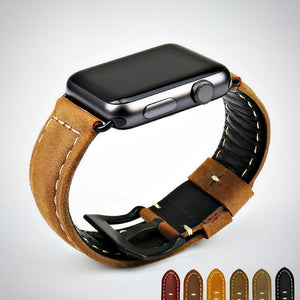 Fab Gear Leather Apple Watch Band Vintage genuine leather Apple Watch Band For 42mm And 38mm