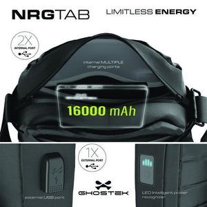 ghostek Bags & Carry Cases Ghostek NRG Water-Resistant Tablet Bag, 16000mAh Battery with Power LED Indicator & 3 USB Ports (Black)
