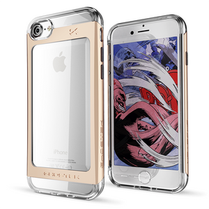 ghostek Cell Phones & Accessories Ghostek Cloak 2 Clear Protective Case with Tempered Glass for iPhone 6/7/8 (Gold)