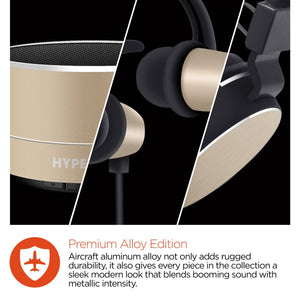 HyperGear bluetooth wireless speaker headphones Hypergear Wireless Bluetooth Headphones speaker Gift Set Black/Gold