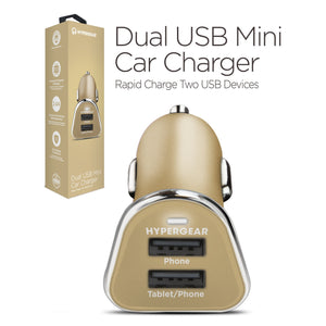 HyperGear Car Charger HyperGear Dual USB Mini 2.4A Car Charger