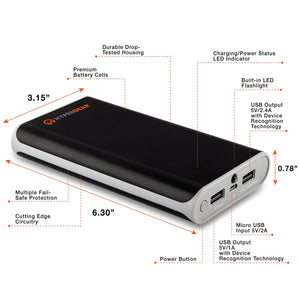 HyperGear chargers HyperGear Portable 20000mAH Power Bank (Black)