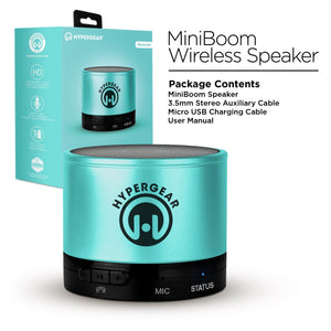 HyperGear General Hypergear MiniBoom Bluetooth Wireless Speaker HD Sound Teal