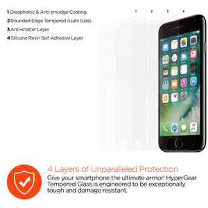 HyperGear Screen Protector HyperGear iPhone 6s/7/8 Plus Premium Tempered Glass - 3PK