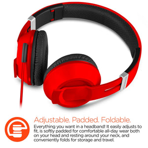 HyperGear Wireless Headphones Hypergear High Performance IN Line V30 Stereo Headphones Red
