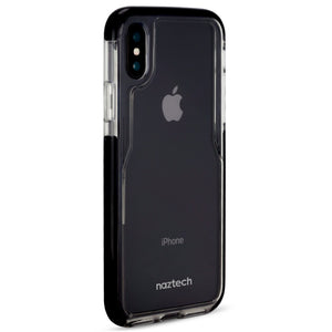Naztech phone case iphone x 10 Naztech Hybrid TPU Clear Back Phone Case for iPhone X 10 Edge Series Black