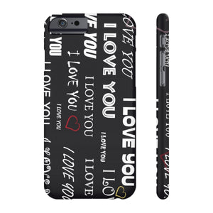 Printify iPhone Case for Apple iPHone X iPhone 6/6S Slim Case Mate Ultra Slim Hard Shell I Love You Case For Apple iPhone 6 7 8 Plus 6 7 8 iPhone x 10