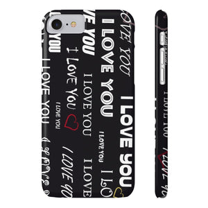 Printify iPhone Case for Apple iPHone X iPhone 7, iPhone 8 Slim Case Mate Ultra Slim Hard Shell I Love You Case For Apple iPhone 6 7 8 Plus 6 7 8 iPhone x 10