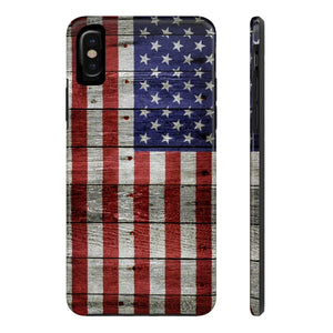 Printify Phone Case iPhone X Tough Case Mate Tough Custom American Flag Distressed Painted For Apple iPhone X