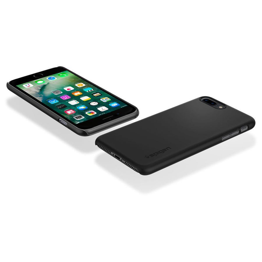 Spigen Cell Phones & Accessories Black Spigen Thin Fit Case with Premium Coating for iPhone 7/8 Plus