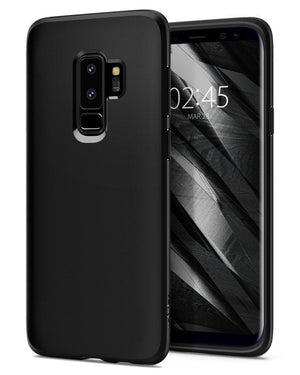 Spigen Crystal Clear SPigen case for samsung galaxy s9 plus Matte Black Spigen Liquid Crystal Galaxy S9 Plus Case with Light but Durable Flexible Sleek Clean Matte Black TPU Protection for Samsung Galaxy S9 Plus (2018) - Matte Black