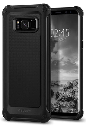 Spigen Galaxy S8 Case Cover Black Spigen Rugged Armor Extra Galaxy S8 Case with Resilient Shock Absorption and Carbon Fiber Design Black