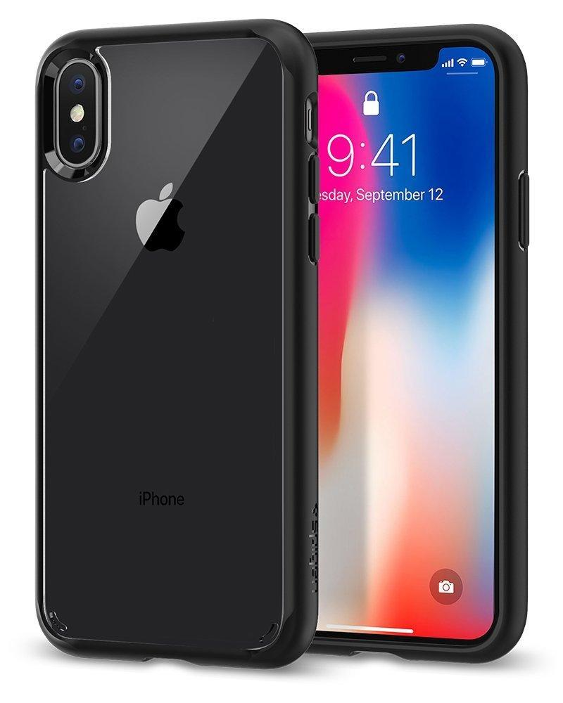 Spigen IPhone X Case Matte Black Spigen Ultra Hybrid Drop Protection Air Cushion Case for Apple iPhone X 10