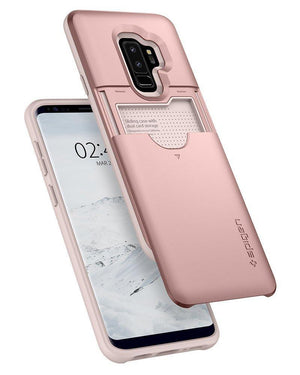 Spigen Phone Case for Galaxy S9 Plus Rose Gold Spigen Slim Armor CS Wallet Phone Case for Samsung Galaxy S9 Plus Case