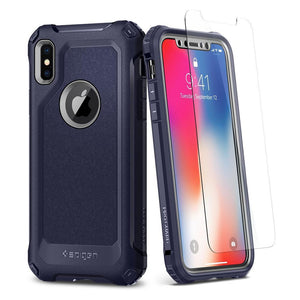 Spigen Phone Case for iPhone X 10 Spigen Pro Guard Rugged protective Shockproof Phone case for iPhone X 10 Midnight Blue
