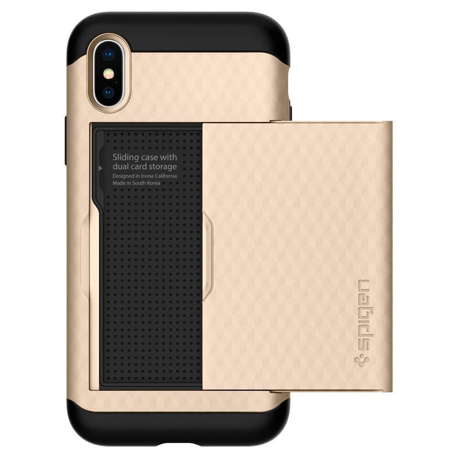 Spigen(r) Wallet Case Iphone x Spigen Spigen® Crystal Dual Layer Card Wallet Case Cover For Apple iPhone X 10