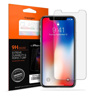 Spigen Screen Protector Spigen For Apple iPhone X 10 Screen Protector GLAS.tR SLIM HD