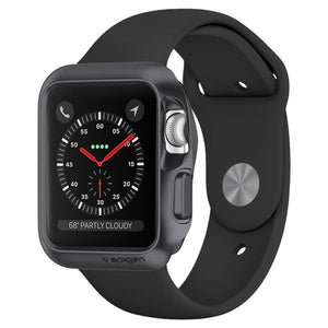 spigen Spigen Slim Cover Spigen Apple Watch Series 3/2/1 (38mm) Case Slim Armor Space Gray