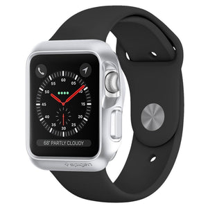 spigen Spigen Slim Cover Spigen Apple Watch Series 3/2/1 (42mm) Case Slim Armor Silver
