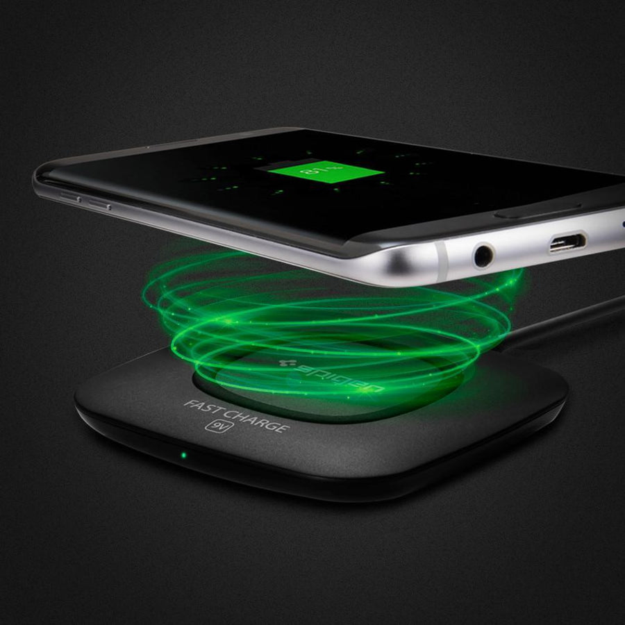 Spigen Wireless Charger Spigen Essential F301W QI Ultra Slim Wireless Charger - Black