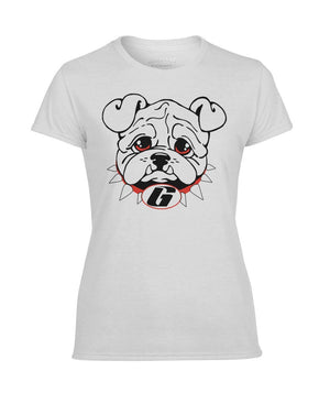 ViralStyle Ladies Tees White / S / Women's Performance Tee Georgia Bulldogs Womans T-Shirt