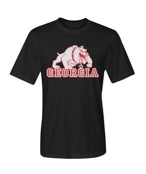 ViralStyle Short Sleeves Black / S / Dry Sport Tee Georgia Bulldogs Dry Sport T-Shirts Tee