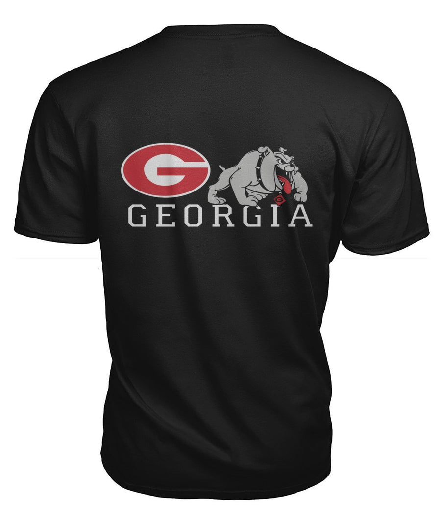 ViralStyle Short Sleeves Black / S / Premium Unisex Tee Georgia Bulldogs Front back Print T-Shirts
