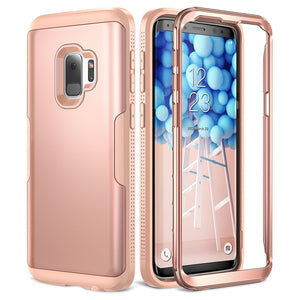 Youmaker Phone Case for Galaxy S9 Plus Rose gold/Pink [Fit Galaxy S9 - 5.8 inch] Youmaker 360 Protection Phone Case For Samsung Galaxy S9 Plus Free Shipping