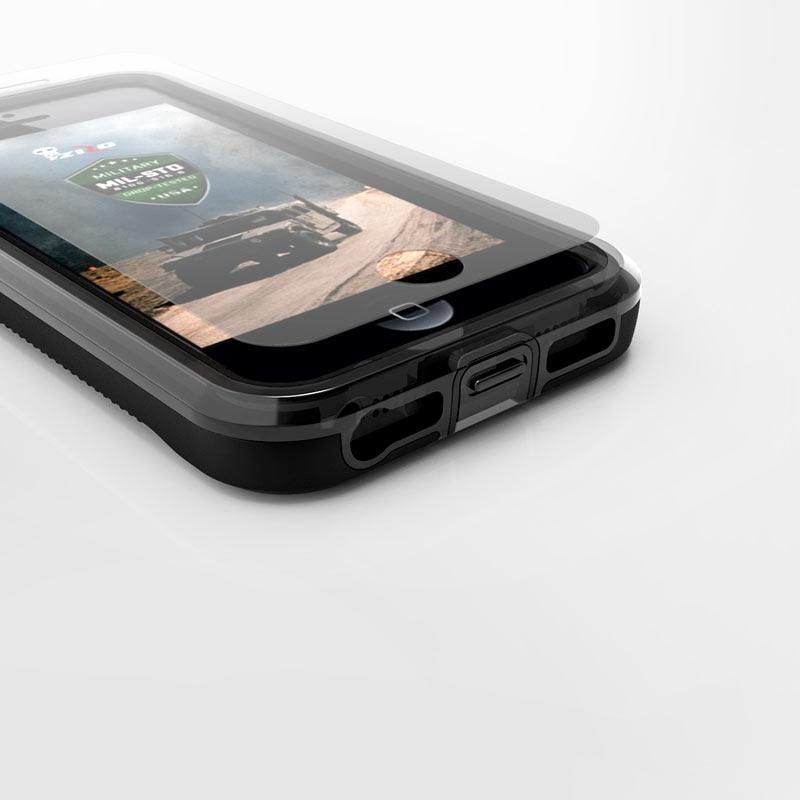 ZIZO Wireless iphone 5 case Zizo ION Clear Phone Case for Apple iPhone 5 5S 5SE Black