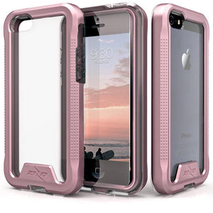 ZIZO Wireless iphone 5 case Zizo ION Clear Phone Case for Apple iPhone 5 5S 5SE Rose Gold