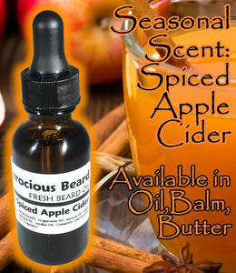 Spiced Apple Cider Beard Oil, Balm or Butter