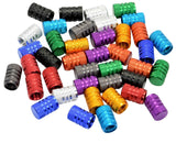 40pcs Schrader Tire Valve Caps, Knurled Style