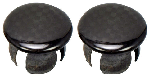 End Plugs, Real Carbon Fiber (2pcs)