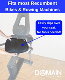 Extra Large Gel Seat Cushion | Recumbent Exercise Bikes & Rowing Machines