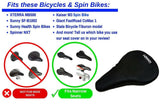 "Gel Bike Seat Cushion 10.5""x7"" (for Adult Bicycles & Indoor Cycling Class)"